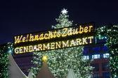 Christmas market at Gendarmenmarkt. — Stock Photo