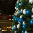Christmas decorations at the central train station in Berlin - Stock Photo