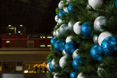 Christmas decorations at the central train station in Berlin — Stock Photo