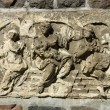 Bas-relief representing women, faith, hope and love. Lapidary of Kollnischer Park. Berlin. — Stock Photo