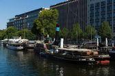 Museo de viejos barcos de río en berlín — Foto de Stock