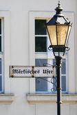 Index Markisches Ufer on an old lamppost. Berlin. Germany — Stock Photo