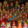 Royalty-Free Stock Photo: Colorful Russian nesting dolls at the market