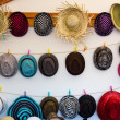 Different styles of hats. Background. — Stock Photo
