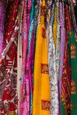 Vários tecidos multi-coloridas. plano de fundo. — Foto Stock