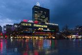 Europa-Center is a building complex on the Breitscheidplatz — Stock Photo