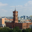 Rotes Rathaus (Senate of Berlin), bird's-eye view — Stock Photo