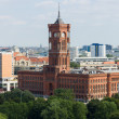 Stock Photo: Rotes Rathaus (Senate of Berlin), bird's-eye view