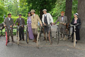 Cyclists. Imperial Holiday (Kaiserfest) to Zoologischer Garten — 图库照片