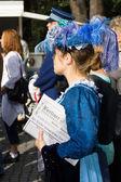 Elegant girl in a vintage dress. Imperial Holiday (Kaiserfest) to Zoologischer Garten — Stock Photo