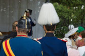 Military in uniform. Imperial Holiday (Kaiserfest) to Zoologischer Garten — Stock Photo