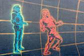Berlijnse muur. east side gallery. — Stockfoto