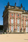 A fragment of the facade of the New Palace. Park San Souci. Potsdam — Stock Photo
