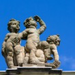 Cupids on the balustrade of the New Palace. Sanssouci. Podsdam. Germany - Stock Photo
