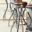 Stock Photo: Bar stools. Toning