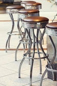 Bar stools. Toning — Stock Photo