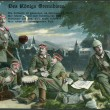 Old German postcard 1915. Shows the royal grenadiers. - Stock Photo