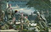 Old German postcard 1915. Shows the royal grenadiers. — Stock Photo