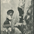 Old German postcard 1909. Children shown on the mountain. — Stock Photo #23466446