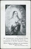"Old Austrian postcard, year unknown. Shows a picture of ""Saint Thérèse of the Child Jesus and the Holy Face"" by Brauchinger — Stock Photo"