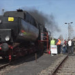 Steam locomotive MBA 14 066 (Orenstein & Koppel) — Stock Video