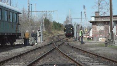 Steam locomotive MBA 14 066 (Orenstein & Koppel) — Stock Video