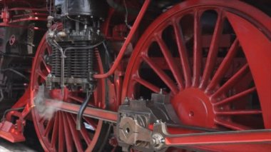 Steam locomotive wheels — Stock Video