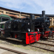 Steam locomotive Borsig 9525 and DRG Kleinlokomotive Class I (Gmeinder) - Lizenzfreies Foto
