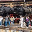 Stock Photo: Steam locomotive Raw Stendal DR Class 52.80 (Kriegslokomotive) and SkodPilsen 1492