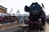 Steam locomotive MBA 14066 (Orenstein & Koppel) — Stock Photo