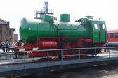 Steam locomotive FLC-077 (Meiningen) on the railway turntable — Foto Stock