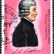 Postage stamp British Virgin Islands, shows Dr. John Coakley Lettsome — Stock Photo