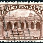Постер, плакат: Postage stamp airmail Guatemala shows University of San Carlos of Guatemala