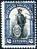 "Postage stamp printed in Paraguay, dedicated to the 100th anniversary of Independence shows ""Allegory of the Republic"" — Stock Photo"