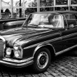 BERLIN - MAY 11: Mercedes-Benz W108 (black and white), 26. Oldtimer-Tage Berlin-Brandenburg, May 11, 2013 Berlin, Germany — Stock Photo