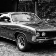 BERLIN - MAY 11: Ford Torino Cobra (black and white), 26. Oldtimer-Tage Berlin-Brandenburg, May 11, 2013 Berlin, Germany — Stock Photo
