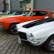������, ������: BERLIN MAY 11: Chevrolet Camaro Second generation 1973 Chevrolet Chevelle SS coupe and Dodge Challenger 26 Oldtimer Tage Berlin Brandenburg May 11 2013 Berlin Germany