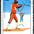 Stock Photo: CHAD - CIRC1979: postage stamp printed in Chad, devoted Wint