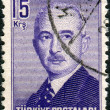 TURKEY - CIRC1948: Postage stamp printed in Turkey shows 2 — Stock Photo #26029521