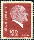TURKEY - CIRCA 1972: A postage stamp printed in Turkey shows the — 图库照片