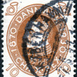 DENMARK - CIRCA 1930: A stamp printed in Denmark, dedicated to the 60th anniversary of the King of Denmark Christian X, circa 1930 — Stock Photo