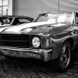 Постер, плакат: BERLIN MAY 11: Chevrolet Chevelle SS coupe Black and White