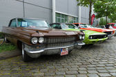 BERLIN - MAY 11: Cadillac de Ville, Dodge Challenger and Chevrol — Stock Photo