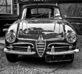 BERLIN - MAY 11: Alfa Romeo Giuletta Spider (black and white), 2 — Stock Photo