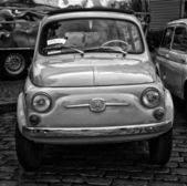 BERLIN - MAY 11: Small Car Fiat 500 F or Berlina (black and whit — Stock Photo
