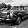 BERLIN - MAY 11: Car Mercedes-Benz W114 (black and white), 26th — Stockfoto