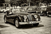 BERLIN - MAY 11: A sports car Jaguar XK140 Roadster (sepia), 26th Oldtimer-Tage Berlin-Brandenburg, May 11, 2013 Berlin, Germany — Stock Photo