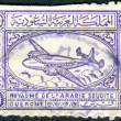 Stock Photo: SAUDI ARABI- CIRC1949: Postage stamp printed in Saudi Arabishows Airspeed Ambassador Airliner, circ1949