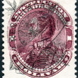 Stock Photo: VENEZUEL- CIRC1887: stamp printed in Venezuela, shows Simon Bolivar (overprint RESELLADand RTM, 1893), circ1887