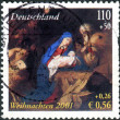 GERMANY - CIRCA 2001: A postage stamp printed in Germany, shows Adoration of the Shepherds by Jusepe de Ribera, circa 2001 — Stock Photo